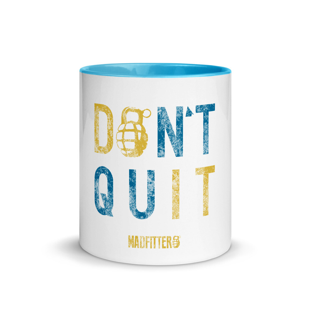 Don't Quit Mug with Color Inside
