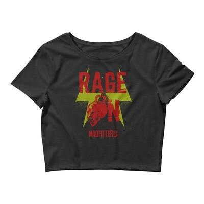 Rage On Women's Crop Tee