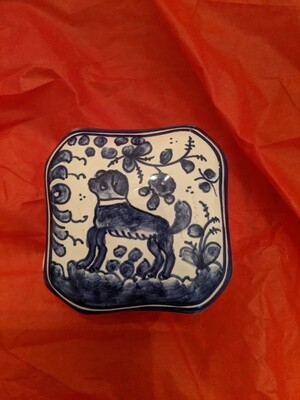 Dog Hand Painted Trinket Box - Raffle Ticket