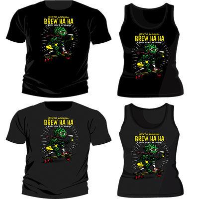 Brew Ha Ha 2015 'Hop Skater' T-Shirt / Blk