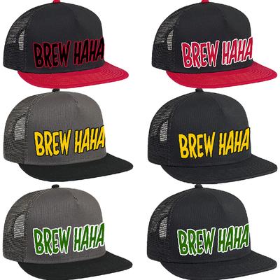 Brew Ha Ha 'Trucker Hat' Blk/Blk with Yellow