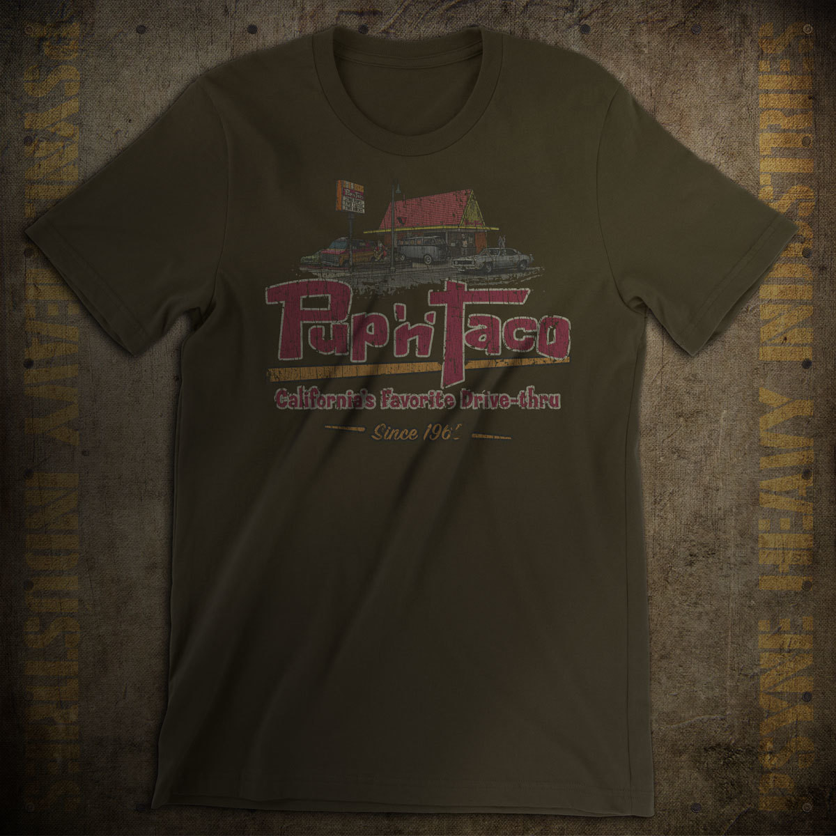 Pup 'n' Taco Drive-Thru Vintage T-Shirt