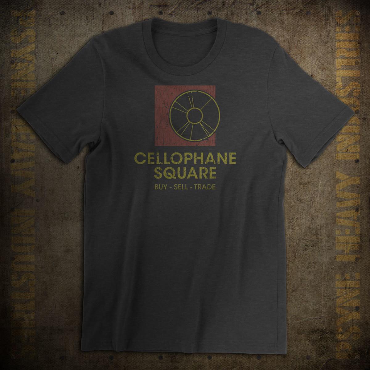 Cellophane Square Seattle Record Store Vintage T-Shirt