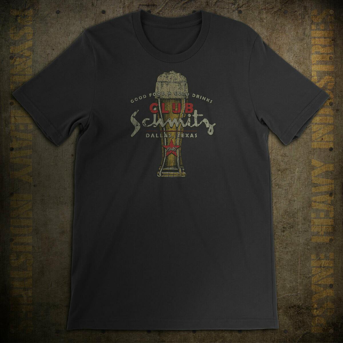 Club Schmitz Vintage Dallas, Texas Dive Bar T-Shirt