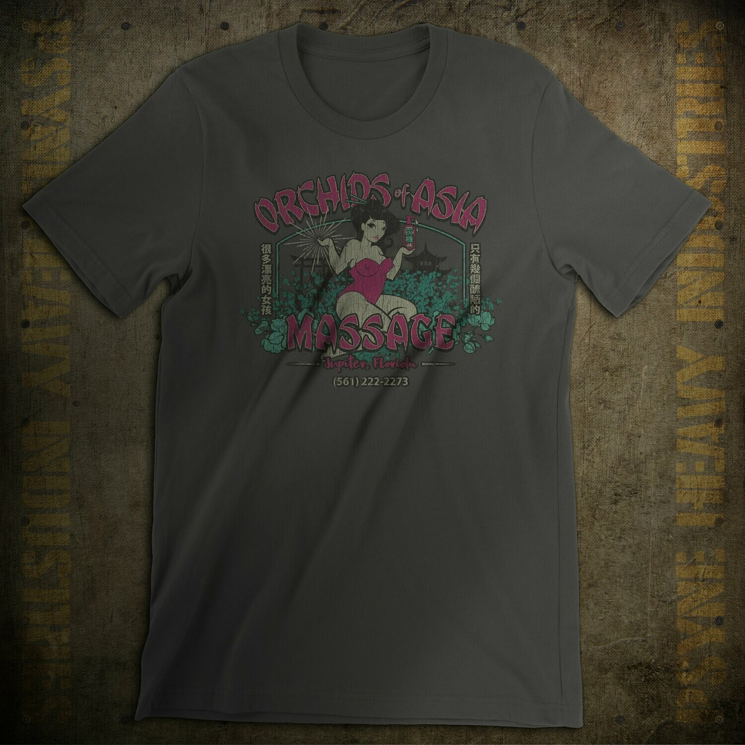 Orchids of Asia Florida Massage Vintage T-Shirt