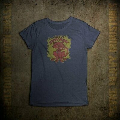 Happy Pussy Vintage 1970s Cat T-Shirt - Women's