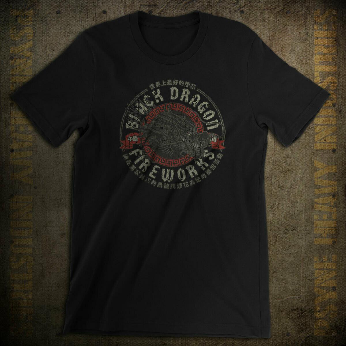 Black Dragon Fireworks Vintage T-Shirt