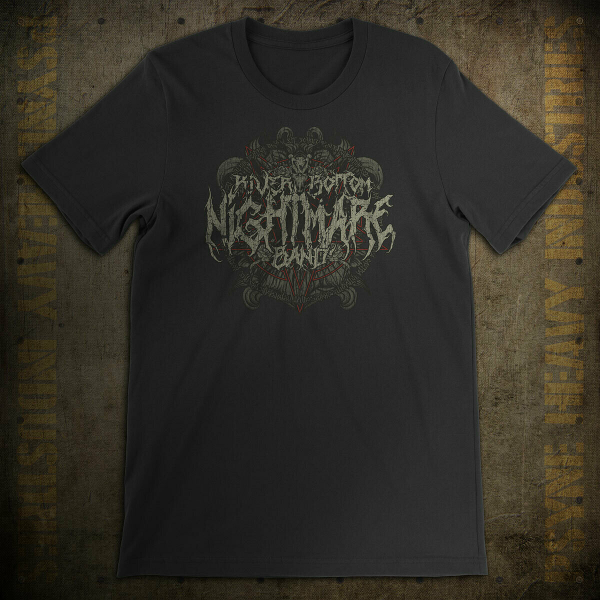 Riverbottom Nightmare Band Vintage Black Metal T-Shirt