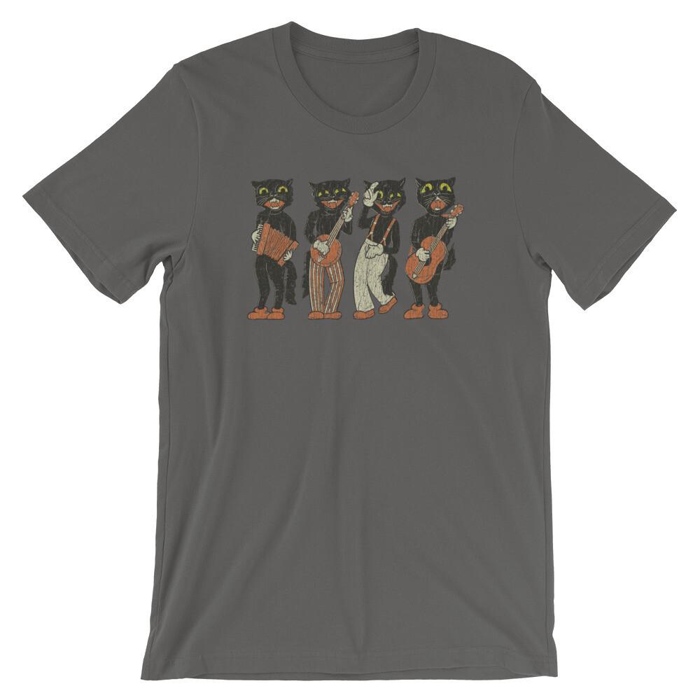 Black Cat Quartet 1940s Halloween Vintage T-Shirt
