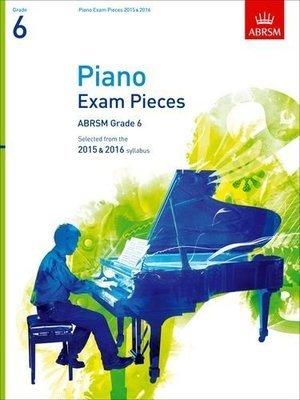 ABRSM Piano Pieces Grade 6 Book