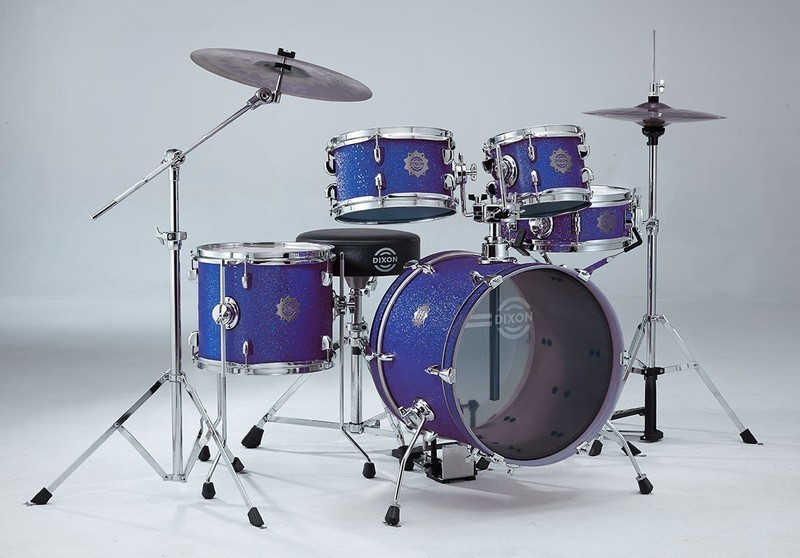Dixon Jet Set 5pc Drum Kit with Hardware and Cymbals - Deep Blue Sparkle