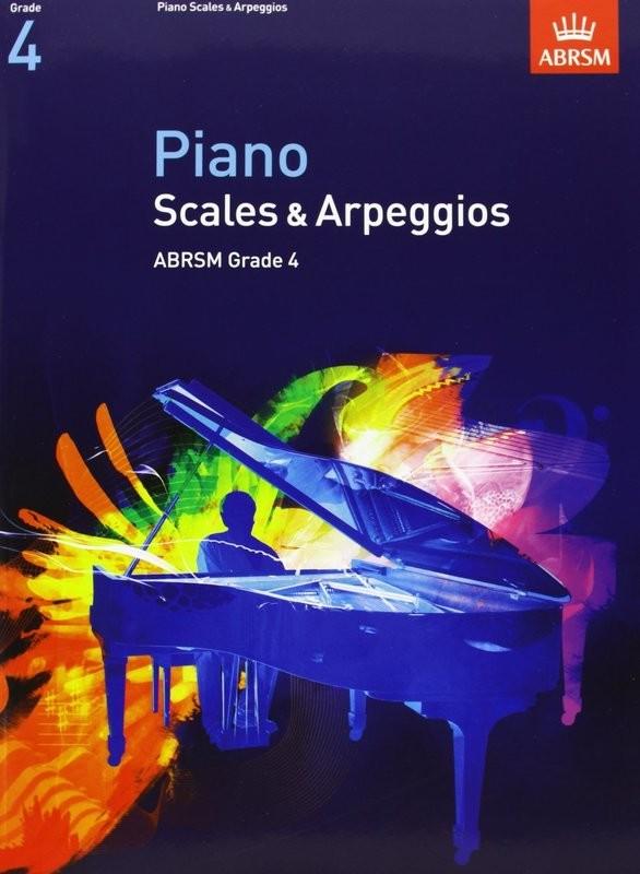 ABRSM Piano Arpeggios and Scales Grade 4 Book