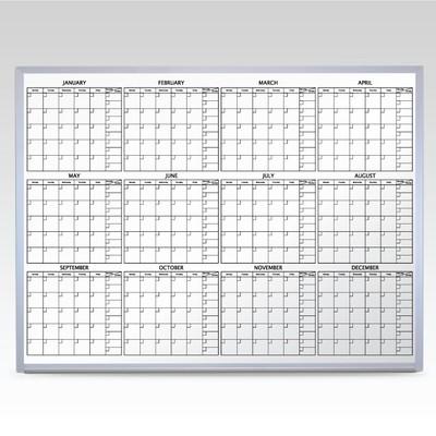 Custom 12 Month Whiteboard Calendar 48 x 72 At A Glance
