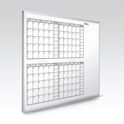 Custom 4 Month Whiteboard Calendar  24 x 36 At A Glance