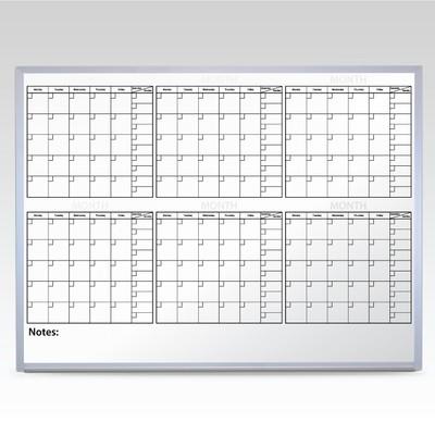 Custom 6 Month Whiteboard Calendar 36 x 48 At A Glance