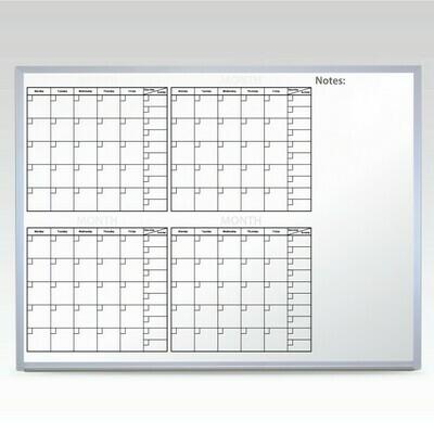 Custom 4 Month Whiteboard Calendar 24 x 36 At A Glance