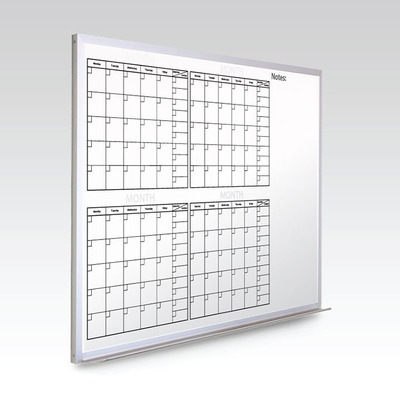 Custom 4 Month Whiteboard Calendar  36 x 48 At A Glance