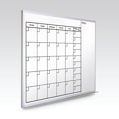 Custom Monthly Whiteboard Calendar  36 x 48 At A Glance