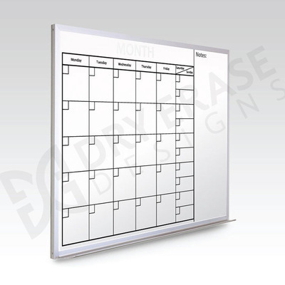 Custom Monthly Whiteboard Calendar  24 x 36 At A Glance