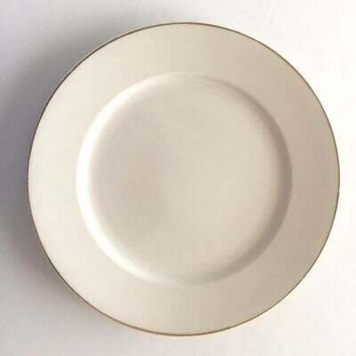 Dinner Plate - Gold Rim (with cutlery)