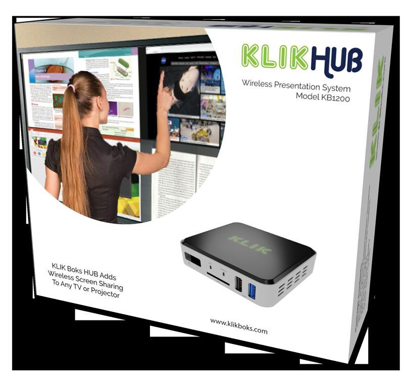 KLIKBoks HUB/SCS Wireless Screen Sharing & Streaming System