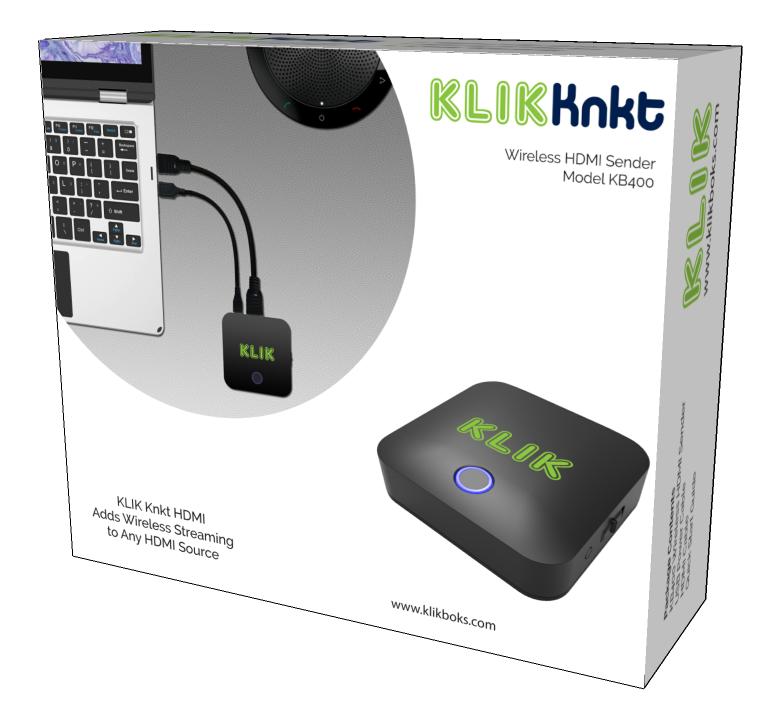 KLIK Knkt Wireless HDMI Sender