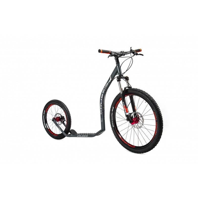 FootBike - Trottinette sportive :  CRUSSIS CROSS 6.3 ANTHRACITE 26/20 HD
