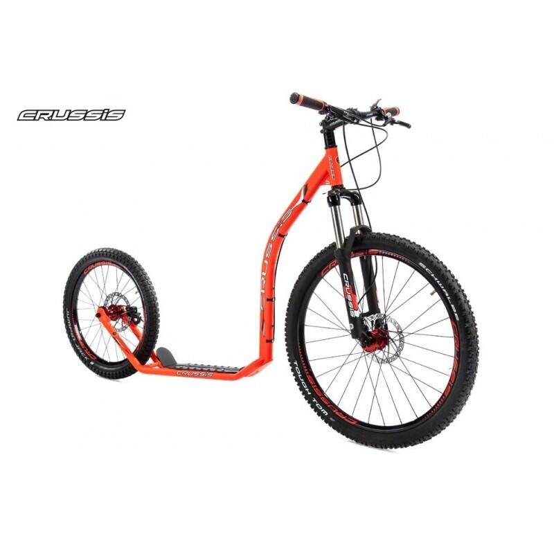 FootBike - Trottinette sportive :  CRUSSIS CROSS 6.1 Rouge/Orange 26/20 HD