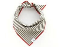 Bandana - Charcoal Stripe