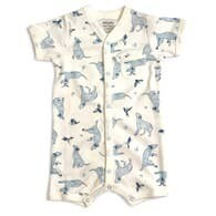 Bodysuit - Kai Labrador Dog & Hummingbird (Blue)