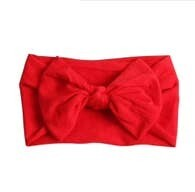 Red Baby Headband - Wide Nylon Baby Headband
