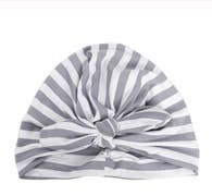 Grey Striped Baby Turban