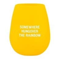 Stemless Silicone Wine Glass - Hungover The Rainbow