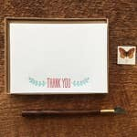 Thank You Leaves Flat Stationery