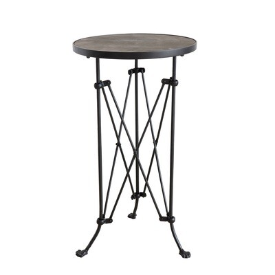 Metal Round Table w/wood top