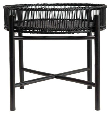 Bamboo Slatted Tray Table w/removable Tray