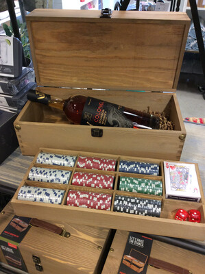 Foster & Rye- Poker & Liquor Box Set