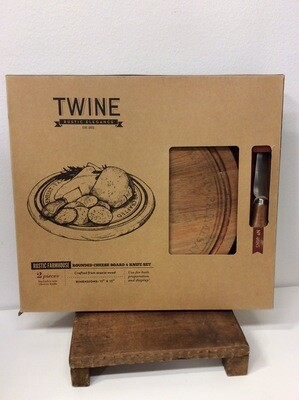 Twine Rounded Cheese Board & Knife Set