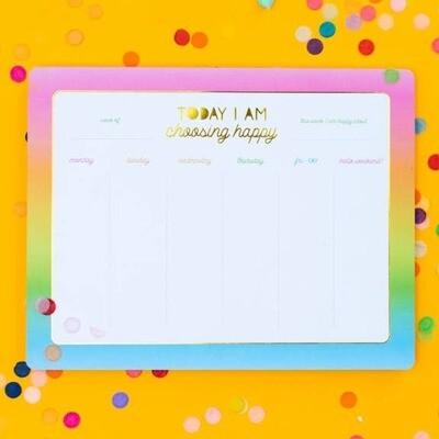 Choose Happy Weekly List Pad Planner