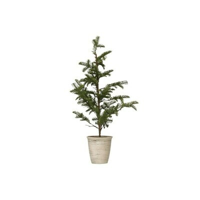 Faux Pine Tree in Pot, Green