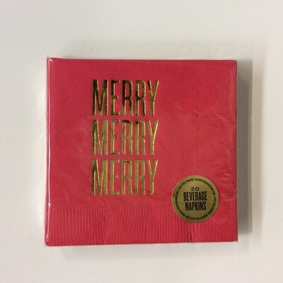 Cocktail Napkins - Merry Merry Merry