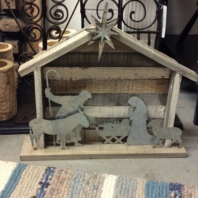 Nativity - Wood and Metal