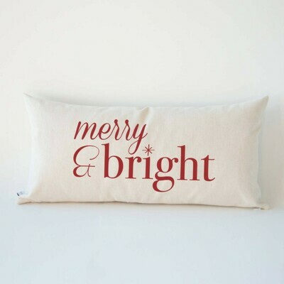 Merry & Bright - Holiday pillow
