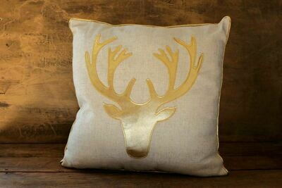 Pillow - Linen w/Gold
