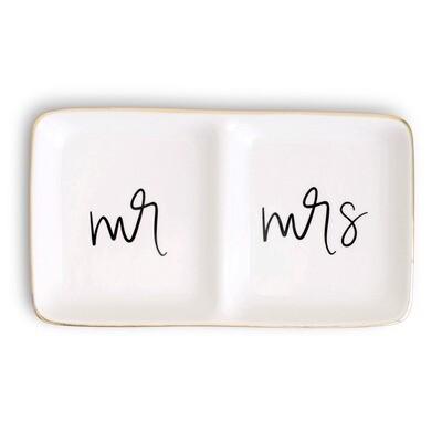 Jewelry Dish - Mr and Mrs