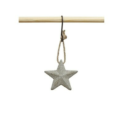 Star Ornament w/ Gold Glitter