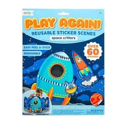 OOLY - Play Again! Reusable Sticker Scenes: Space Critters