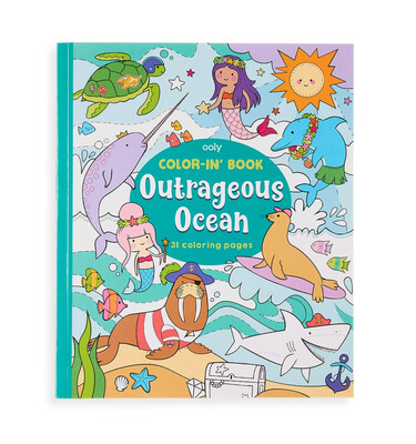 OOLY - Color-in' Book: Outrageous Ocean