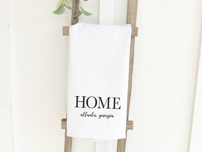 Tea Towel- Home With City And State