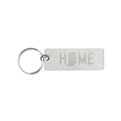 Indiana Metal Keychain